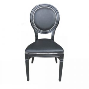 Black Isla banquet chair