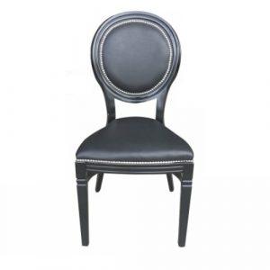 Black Isla banquet chair