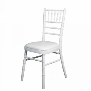 White Camalot banquet chair