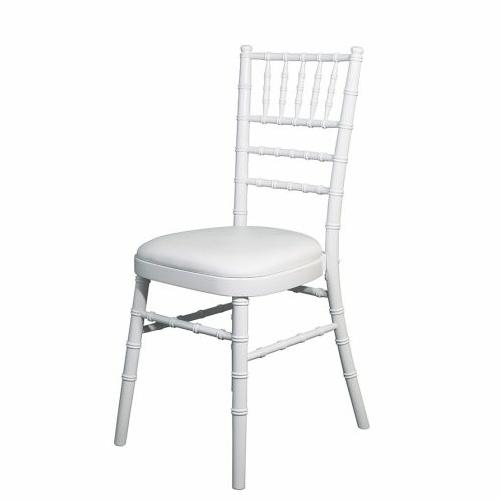 White Camalot banquet chair