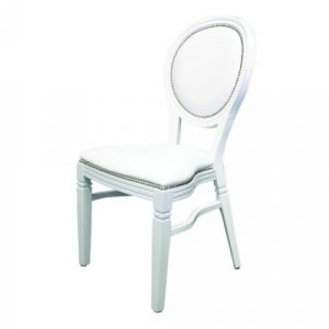 white isla wedding chair