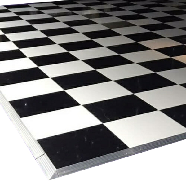Black White portable dance floor
