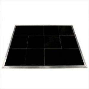 Black portable dance floor