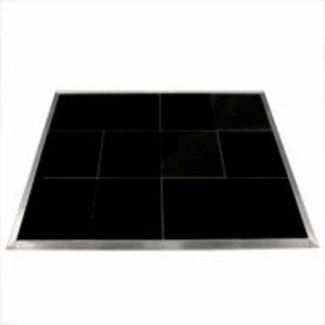 Black portable dance floor