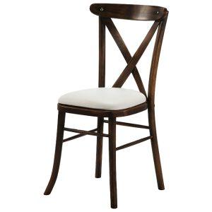 dark wash crossback chair